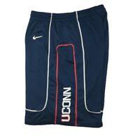 Vintage Connecticut Huskies UConn Men's Large Blue Nike Basketball Shorts Rare