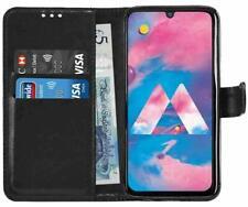 Samsung Galaxy A40 Black Book Case PU Leather Case Wallet-Book Case Card Slots