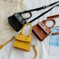 Mini Fashion Small Square Messenger Shoulder Crossbody Leather Wallet Handbags