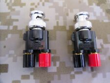 2 Pomona Electronics 3296 Binding Posts To Bnc Male Connector Adapter Coaxial