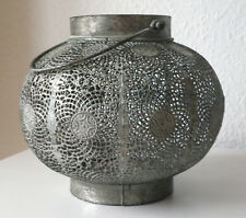 MAROKKANISCHE LAMPE Metall silber antik rund antik Laterne marakesch arabisch