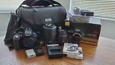 Nikon D3300 24.2MP Digital SLR Camera Kit AF-S DX 18-55mm and 55-200mm +more