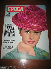 RIVISTA EPOCA 1962/608=COVER SOFIA SOPHIA LOREN=CLAUDIA CARDINALE=