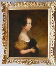 CIRCLE OF SIR THOMAS LAWRENCE PRA 1769-1830 OIL PAINTING PORTRAIT: YOUNG GIRL