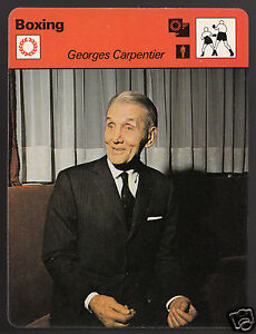 GEORGES CARPENTIER French Boxing Champion Boxer 1979 SPORTSCASTER CARD 53-14A