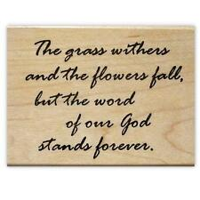 Word of God Stands Forever. mounted rubber stamp, Christian bible verse NIV #16
