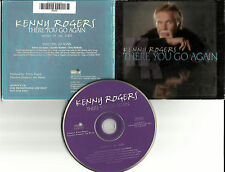 KENNY ROGERS there you PROMO Radio DJ CD Single w/ PRINTED LYRICS go again 2000