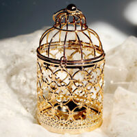 Lovoski Metal Hollow Birdcage Candle Holder Tealight Hanging Candlestick