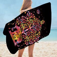 Black Pink Elephant Animal Indian Boho Travel Holiday Beach Bath Summer Towel