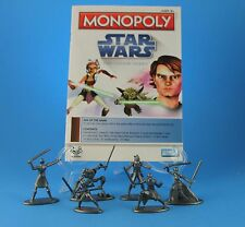 Star Wars Clone Wars 6 Collectible Replacement Tokens Pieces Monopoly 2008