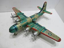 BOEING B-29 SUPERFORTRESS VG CONDITION ALL TIN MADE IN JAPAN ALL PROPS TURN