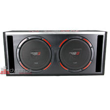 "Cerwin Vega H6E12DV Car Stereo 12"" Dual Loaded Sub Slot-Vented Ported Enclosure"
