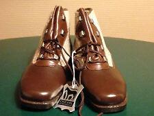 Chaussure de luxe 35 CUIR de CHEVAL Enfant Vintage neuve