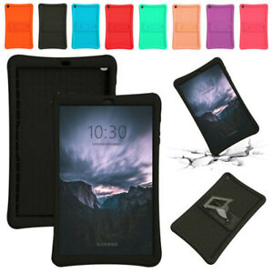 For Samsung Galaxy Tab A 8.0 8.4 10.1 T290 T515 Silicone Stand Bumper Case Cover