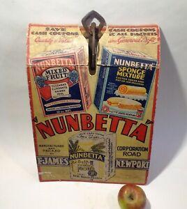 Antique vintage, advertising Shop Display Sign 'Nunbetta Flour'  Newport