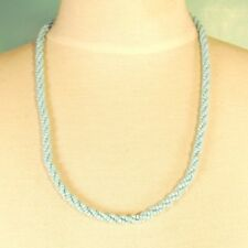 "10 PCS  22"" Handmade Light Blue Color Beaded Rope Chain Necklace WHOLESALE LOT"