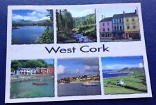 POSTCARD: WEST CORK: MULTI SCENE: USED: POSTED: POST DATE ON CARD IS 1999