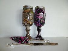 Camo redneck wine glass mason jars and wedding serving set
