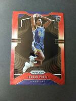 JORDAN POOLE RC 2019-20 PANINI PRIZM RUBY RED WAVE PRIZM ROOKIE 272 WARRIORS
