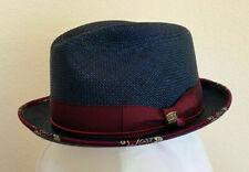 BILTMORE ANNIVERSARY * MENS NAVY PANAMA PORK PIE HAT 7 1/4 * NEW DRESS SUN GOLF