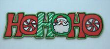 CHRISTMAS XMAS HOHOHO SANTA Embroidered Iron Sew On Cloth Patch Badge  APPLIQUE