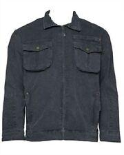 Mens' dark grey casual denim jacket from Trespass size small new 100% cotton