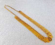 South Indian Jewelry Ethnic Gold Plated Necklace Chain Beautiful Coin Mala S01 L