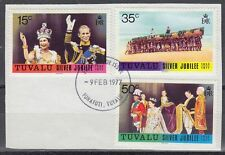 Tuvalu 1977 Θ Mi.43/45 Regentschaft Silver Jubilee Queen Elizabeth [sq7122]
