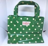 Cath Kidston Ladies Green Polka Dot Bag Handbag Purse Carry