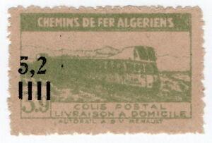 (I.B) France Colonial Railway : Algeria Chemins de Fer 5.2F on 3.9F OP