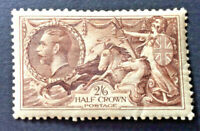 GEORGE V ,1934 ,2/6 SEAHORSE MOUNTED MINT SG 450
