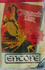 Dragons Lair (Encore 1987) Commodore C64 (Tape, Manual, Box) funktioniert 100 %