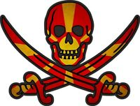 Sticker decal flag jack rackham pirate  MK macedonia