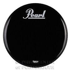 "Pearl Powerstroke 3 Bass Drum Logo Head Ebony 22"""