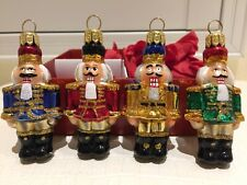 """Christmas X'mas Ornament Hand Made In Poland Glass Art Toy Soldier Box 3""""X1"""" New"""