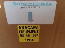 Specialty Fluids CryoPump Compressor Helium Adsorber Filter Type A, New (1204)