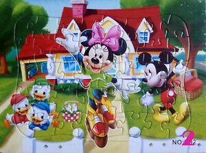 40 Pieces Jigsaw Puzzles Mickey and Minnie Mouse Drawing Best Gifts for Kids