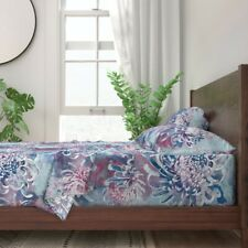 Watercolor Chrysanthemum Japanese 100% Cotton Sateen Sheet Set by Roostery