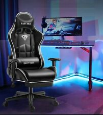Gaming Chair Computer Video Racing Ergonomic PU Leather Office  Footrest