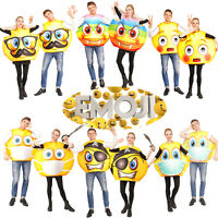 Unisex Adult Emoticon Costume Funny Emoticon Halloween Party Cool Jumpsuit