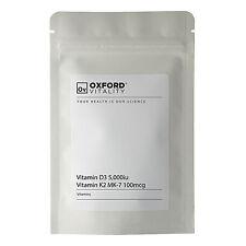Vitamin D3 5000iu and K2 MK-7 100mcg Tablets : Menaquinone MK7 Bone and Joints