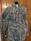 Army Combat Uniform Set Shirt & Pants Digital Camo SPM100-05-D-0407 LARGE LONG
