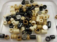 100 Pieces Large India Handmade Water Buffalo Bone Beads Dreadlocks (CF-54)