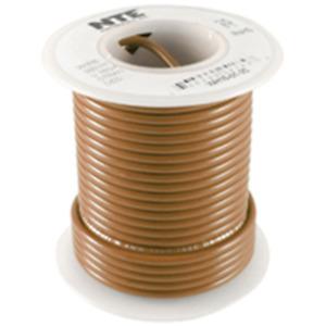 NTE Electronics WH616-01-500 HOOK UP WIRE 600V STRANDED 16 GAUGE BROWN 500'