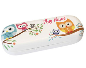 Personalised Any Name Cute Owl Children's Glasses Case