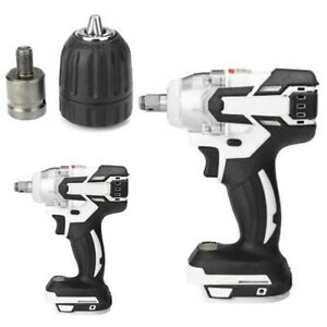 128V 1280W LED Cordless Electric Impact Hammer Drill Screwdriver 240-520NM
