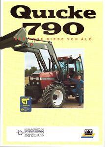 ALÖ SWEDEN QUICKE 790 Frontlader 90er Agrar-Prospekt KRANICH GmbH 2 S ~#586