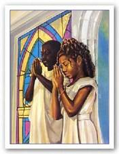 Daily Prayer Kevin Williams (WAK) African American Art Print 16x12