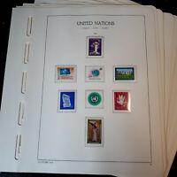 """BRIEFMARKENSAMMLUNG   """"UNO GENF 1969 - 1980""""   auf Leuchtturm-Vordruckblättern"""