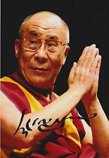 14th DALAI LAMA Signed Autographed 4x6 Inch Photo Tenzin Gyatso Tibetan Buddhism